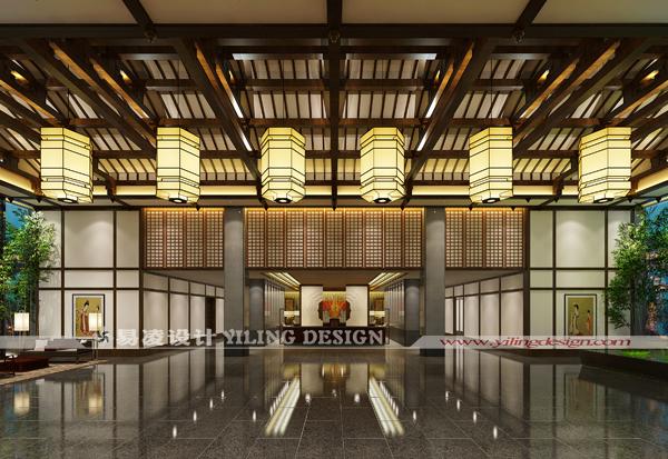 广德笄山竹海温泉度假酒店(五星级)设计-接待大堂